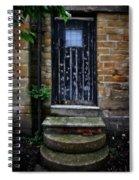 Old Forgotten Black Front Door Spiral Notebook