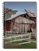 Old Forlorn Decrepid Wooden Barn Spiral Notebook
