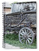 Old Freight Wagon - Montana Territory Spiral Notebook