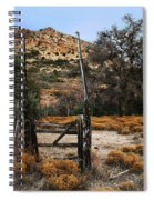 Old Gate At Oak Flats Spiral Notebook