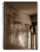Old Glass Bottles Spiral Notebook