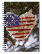 Old Glory Heart Spiral Notebook