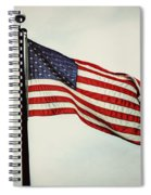 Old Glory In The Wind Spiral Notebook