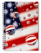 Old Glory Water Drops Spiral Notebook
