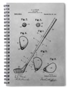 Old Golf Club Patent Illustration Spiral Notebook