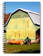 Old Green Barn South Of Rosman Spiral Notebook