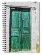 Old Green Door Spiral Notebook