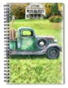 Old Green Pickup Truck Spiral Notebook