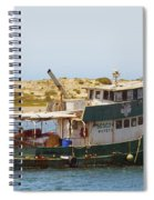 Old Green Scow Morro Bay Harbor Spiral Notebook