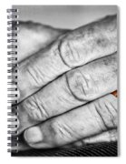 Old Hands With Wedding Band Spiral Notebook