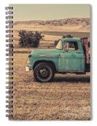 Old Hay Truck In The Field Spiral Notebook