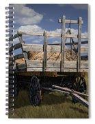 Old Hay Wagon In The Prairie Grass Spiral Notebook