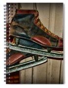 Old Hockey Skates Spiral Notebook