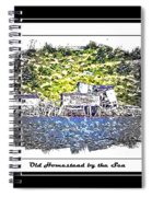 Old Homestead By The Sea Spiral Notebook