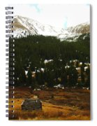 Old Homestead In The Colorado Mountains Spiral Notebook