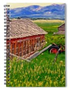 Old Homestead Near Townsend Montana Spiral Notebook