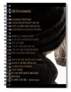 Old Horsewoman Spiral Notebook
