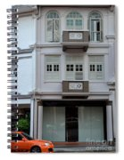 Old House And Funky Orange Car Spiral Notebook