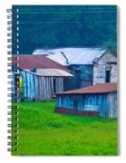Old House And Harvest Time 2 Spiral Notebook