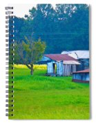 Old House And Harvest Time Spiral Notebook
