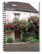Old House Covered With Roses Spiral Notebook