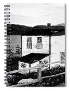 Old House In Black And White Spiral Notebook