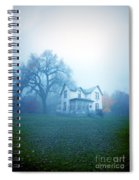 Old House In Fog Spiral Notebook