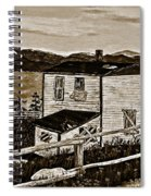 Old House In Sepia Spiral Notebook
