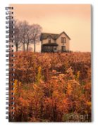 Old House In Weeds Spiral Notebook