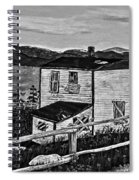 Old House - Memories - Shutters And Boards Spiral Notebook