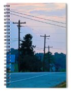 Old Houses And Sunset Spiral Notebook