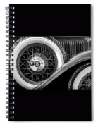 Old Jag In Black And White Spiral Notebook