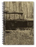 Old Jalopy Behind The Barn Spiral Notebook