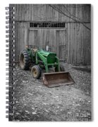 Old Tractor By The Barn Etna New Hampshire Spiral Notebook
