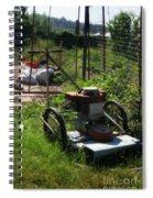 Vintage Lawn Mower Spiral Notebook