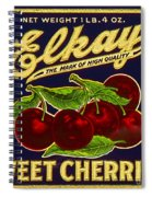 Cherries Antique Food Package Label Spiral Notebook
