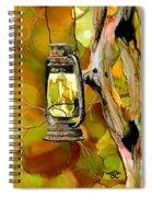 Old Lantern In Camo Spiral Notebook