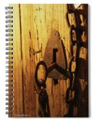 Old Lock And Key Spiral Notebook