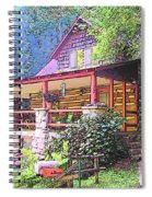Old Log Cabin Home Spiral Notebook
