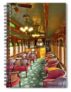 Old Lounge Car From Early Railroading Days Spiral Notebook