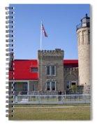 Old Mackinac Mi Lighthouse 19 Spiral Notebook