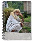 Old Man Carrying Fodder Swat Valley Kpk Pakistan Spiral Notebook