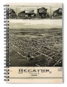 Old Map Of Decatur Texas 1890 Spiral Notebook
