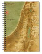 Old Map Of The Holy Land Spiral Notebook