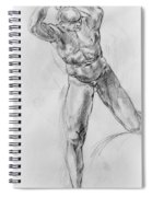 Old Masters Study Nude Man By Annibale Carracci Spiral Notebook