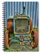 Old Metal Wheeled Tractor Hdr Spiral Notebook