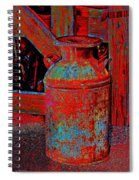 Old Milk Pail Pop Art Spiral Notebook