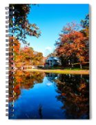 Old Mill House Pond In Autumn Fine Art Photograph Print With Vibrant Fall Colors Spiral Notebook