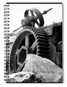 Old Mill Of Guilford Gears Black And White Spiral Notebook