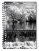 Old Mill Pond In Infrared Spiral Notebook